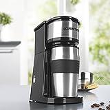 cleanmaxx 06448 Single-Kaffeemaschine Edelstahl, inklusive Thermobecher - 2