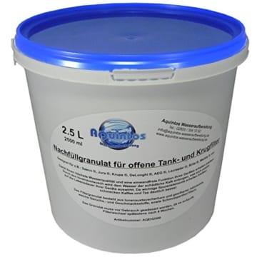 2.5 L Nachfüllgranulat – Ionenaustauscherharz – Filtergranulat – Enthärter – für Saeco, Jura, Brita, Krups uvm.. AQEH2500 -