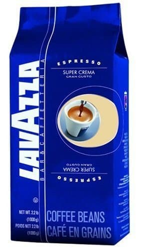 3 x Lavazza Kaffee Espresso Super Crema, ganze Bohnen, 1000g -