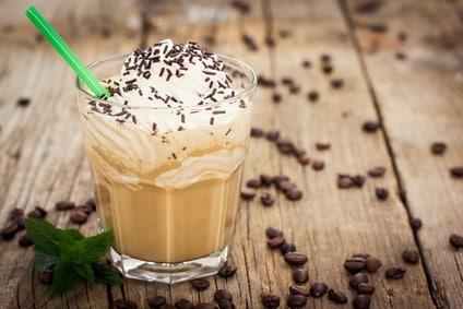 Karamell Latte im Herbst