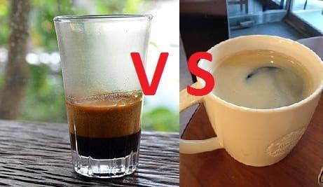 Kaffee vs Espresso