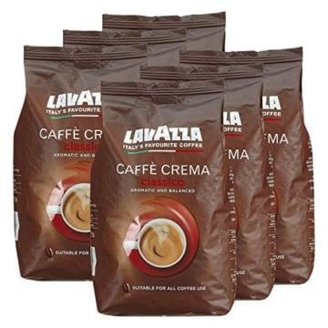 lavazza kaffee caff crema classico ganze bohnen bohnenkaffee 6 x 1kg packung. Black Bedroom Furniture Sets. Home Design Ideas