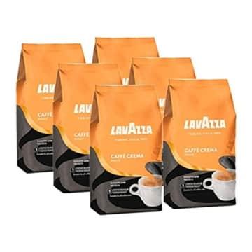 Lavazza Kaffee Caffè Crema Dolce, ganze Bohnen, Bohnenkaffee (6 x 1kg Packung) -