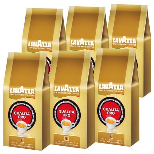 lavazza kaffee qualita oro ganze bohnen bohnenkaffee 6er pack 6 x 1000g. Black Bedroom Furniture Sets. Home Design Ideas
