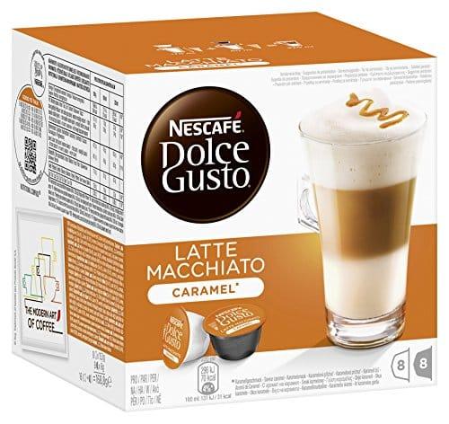 nescaf dolce gusto kaffeekapseln latte macchiato caramel 48 kapseln f r 24 getr nke. Black Bedroom Furniture Sets. Home Design Ideas